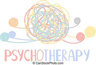 精神, 混亂, 顏色, 摘要, 心理療法, 混亂狀態