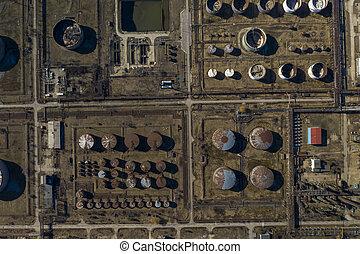 精製所, 写真, オイル, 航空写真