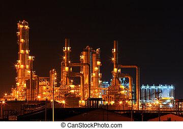 精製所, 植物, 石油化学, オイル
