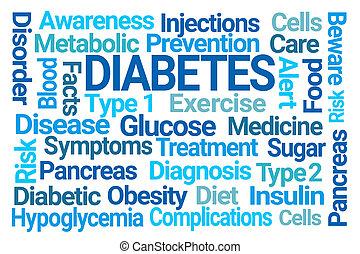 糖尿病, 単語, 雲