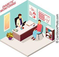 糖尿病, 醫生, 病人, 等量, 作品