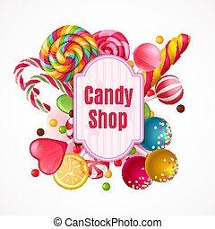 糖果, 現實, 框架, 背景