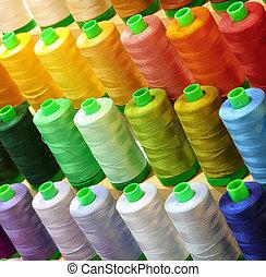 糸, セール, 裁縫, 仕立屋, 店