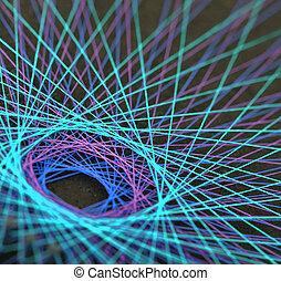 糸, ディスプレイ, カラフルである