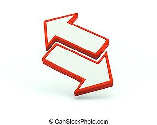 系列, icon., 紅色, 交換