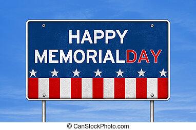 紀念館, 聯邦, -, 美國人, 假期, 天, 愉快