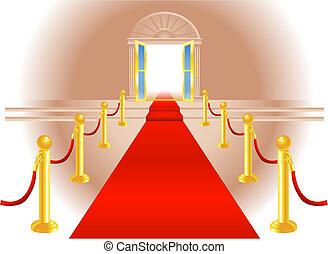 紅的地毯, 入口