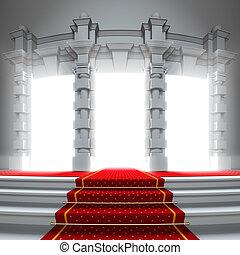 紅的地毯, 方式, 到, the, 光, portal.