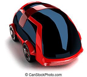 紅的小汽車