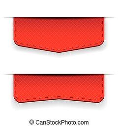 紅的緞帶, 集合, 矢量
