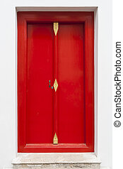 紅的門, 現代