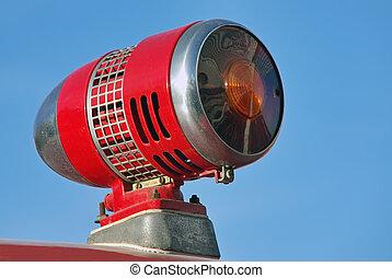 紅色的警報器