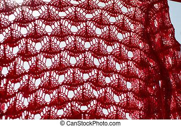 紅色, 上色, 織品, 由于, 圖案