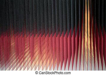 紅色, 以及, 黑色, 摘要, 發光, 背景