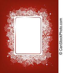 紅色, 冬天, 背景