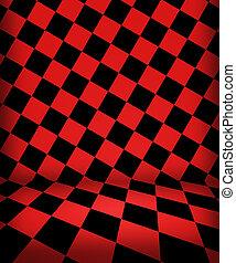 紅色, 國際象棋, 房間, 階段