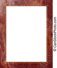 紅色, 大理石, 框架