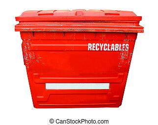 紅色, 工業, 回收桶