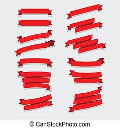 紅色, 帶子, 彙整
