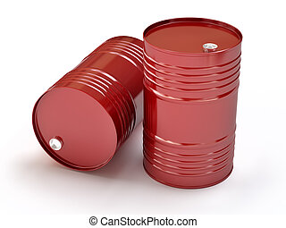 紅色, 油, 桶