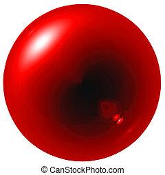 紅色, 耀眼, 球
