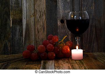 紅色, 葡萄, 酒