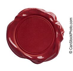 紅色, 蜡印記, 被隔离, 由于, 裁減路線, included