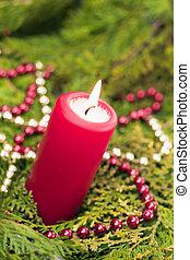 紅色, 蜡燭