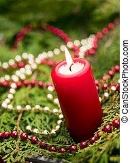 紅色, 蠟燭