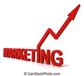 紅色, 銷售, 詞, 意味著, 促進, 銷售, 以及, 做廣告