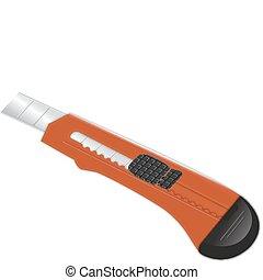 紅色, 鋒利, 刀具, 紙張刀, statio