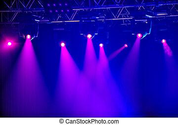 紅色, 階段, 聚光燈