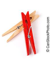 紅色, clothespin