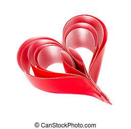 紅色, heart., 情人節, 天