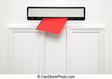 紅色, letterbox