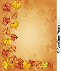 紅葉, ボーダー, 秋