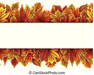 紅葉, 白, 隔離された, 背景