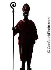 紅衣主教, 黑色半面畫像, 主教, 人