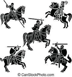 紋章学, 騎士