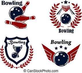 紋章, ∥あるいは∥, バッジ, ボウリング
