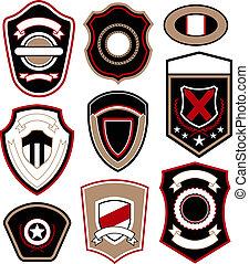 紋章, シンボル, バッジ, デザイン