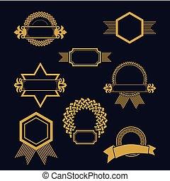 紋章, セット, 装飾用である
