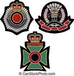 紋章, 保護, バッジ, 皇族