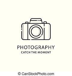 紋章, 写真, 写真撮影, カメラ, ロゴ, 印。
