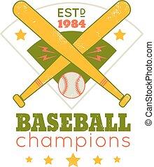 紋章, 野球