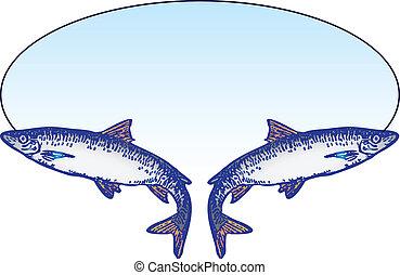 紋章, 釣り
