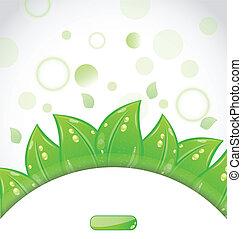 紋章, eco, 葉, 緑, パンフレット, 新たに