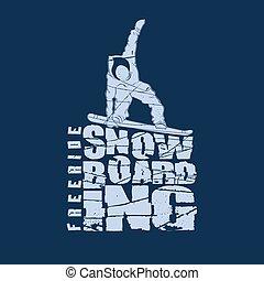 紋章, snowboarding, スポーツ