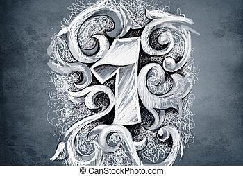 紋身, 略述, 做, 數字, 手, 一, 藝術