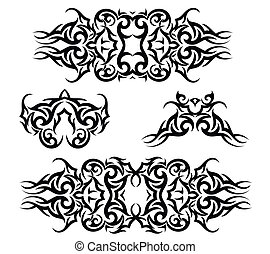 紋身, 集合, 手臂, 結合